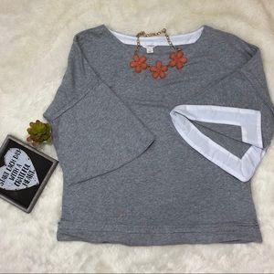 Caslon light gray Sweatshirt size M